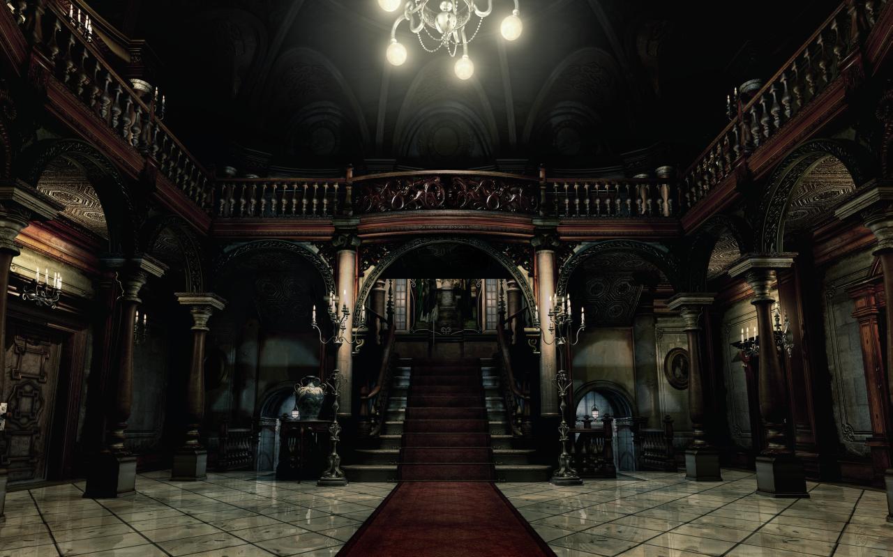 Resident evil ecco l atrio di villa spencer realizzato con l unreal