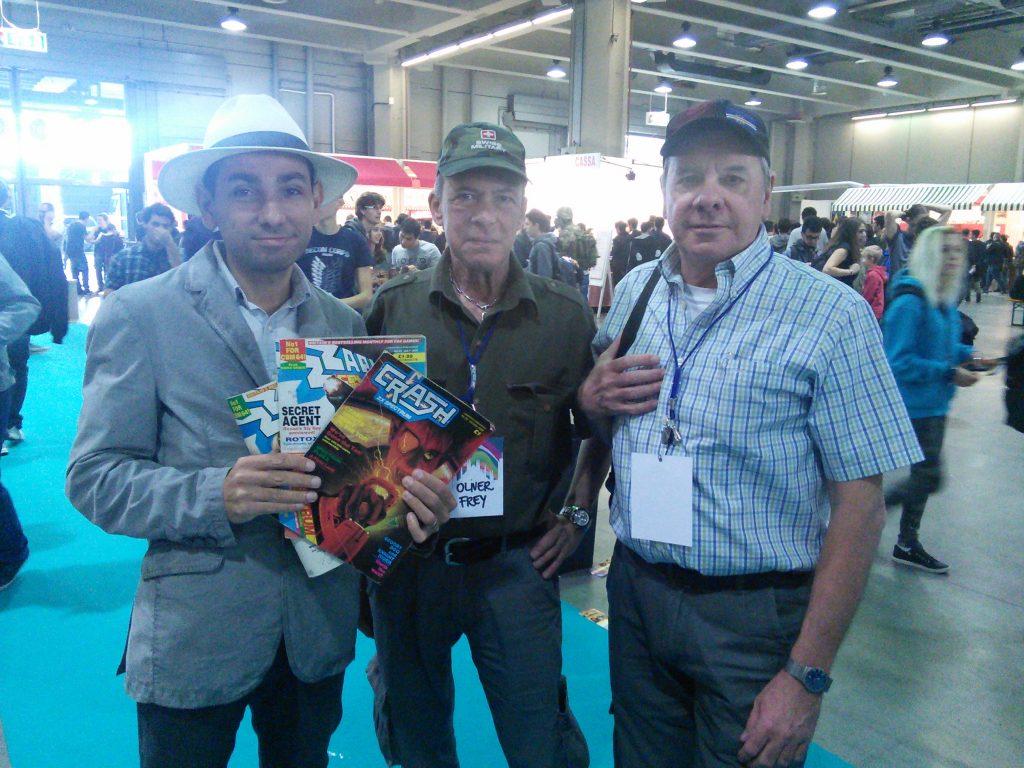 Con Oliver Frey e Roger Kean (Zzap64! - Tgm e altri)