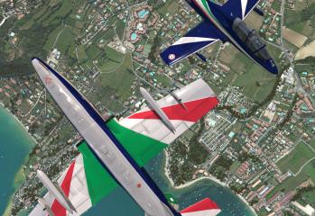 rortos frecce tricolori flight simulator moreno lovato