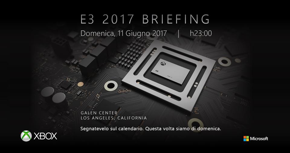 Xbox Scorpio sarà protagonista all'E3 2017? Microsoft annuncia la conferenza con un'immagine