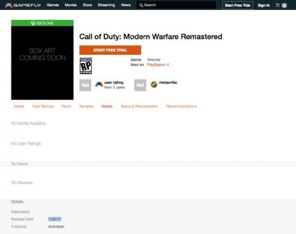 Call of Duty: Modern Warfare Remastered potrebbe arrivare in versione standalone
