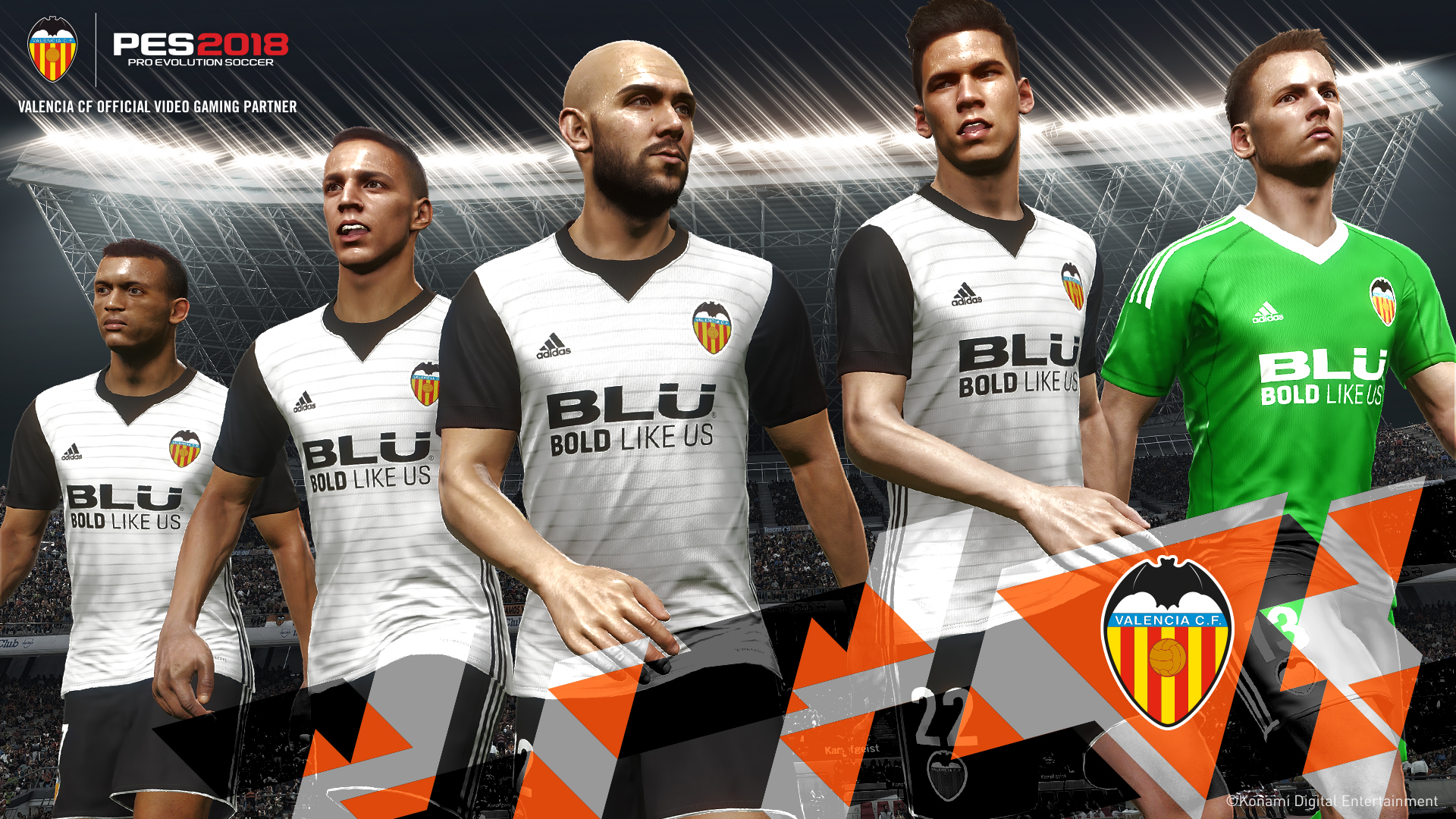 Pro Evolution Soccer 2018, Konami annuncia una partnership con il Valencia CF