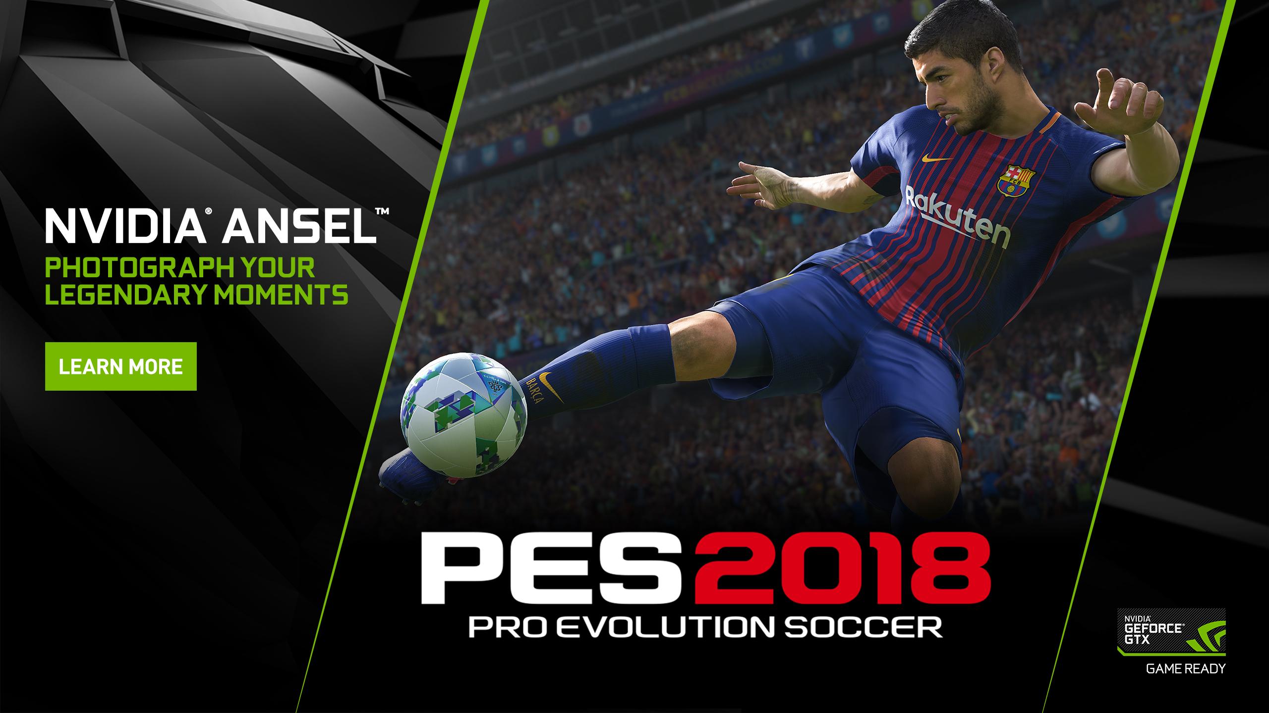 NVIDIA Ansel immorta le azioni di gioco su PES 2018 | GamesVillage it