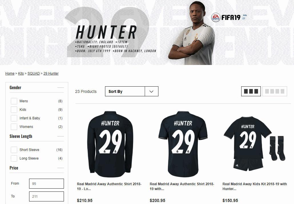 FIFA 19 Alex Hunter