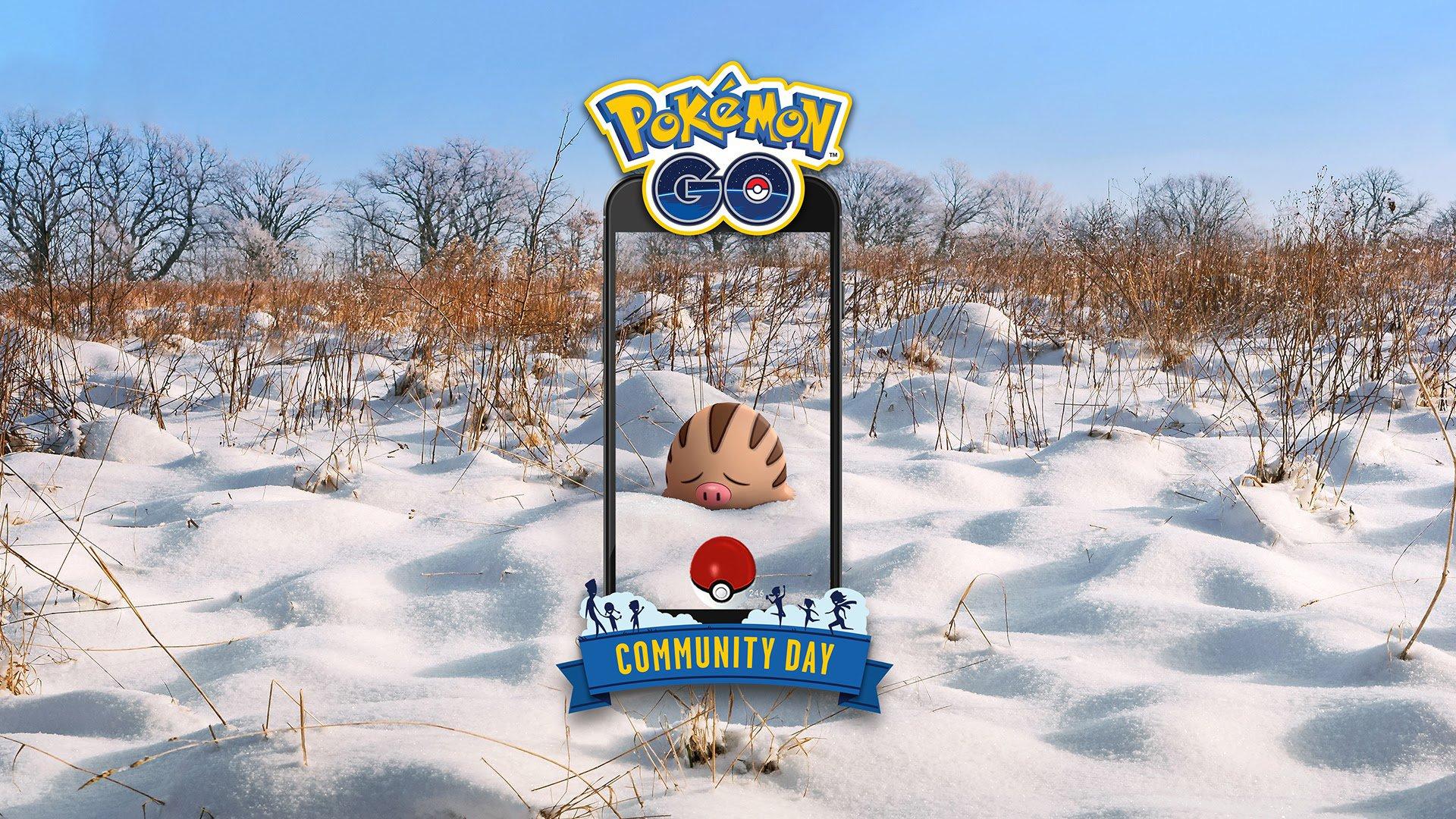 pokemon go community day swinub mamoswine