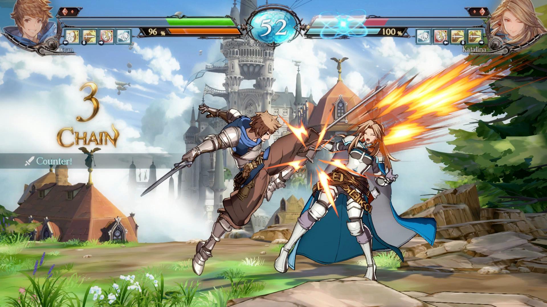 Granblue Fantasy Versus combattimento
