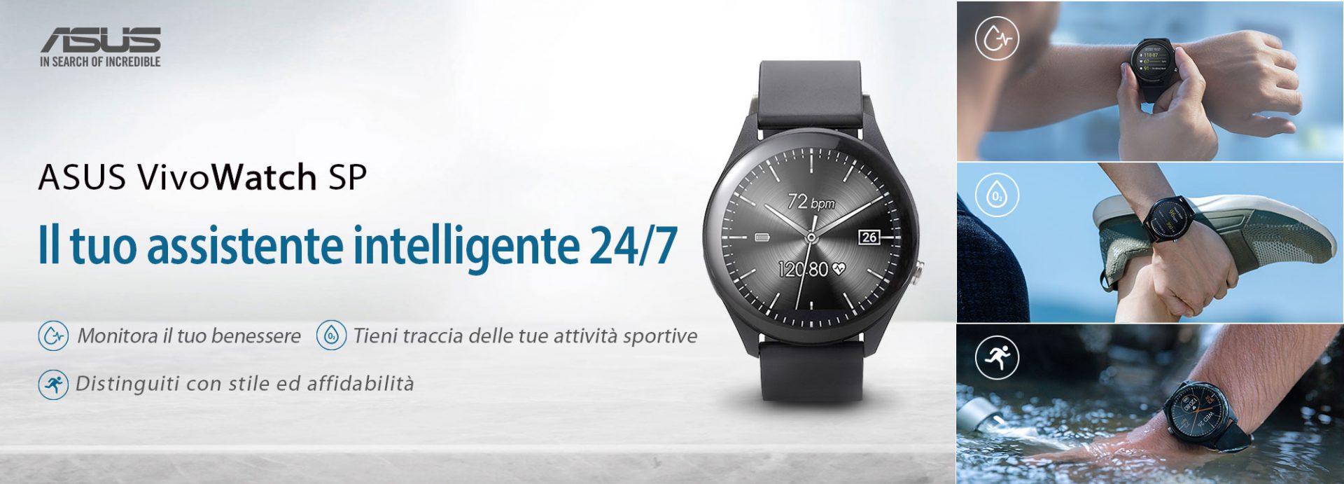 ASUS annuncia la disponibilità in Italia del VivoWatch SP, un tracker di benessere intelligentein grado di monitorare 24/7 il nostro corpo.