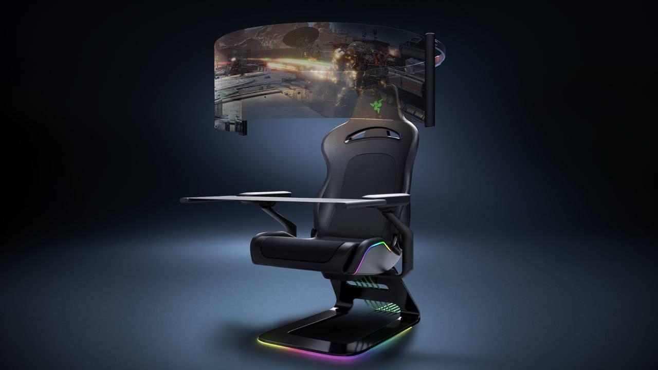 La sedia da gaming Project Brooklyn di Razer si trasforma da sedile ergonomico in un vero e proprio centro di intrattenimento che offre un'immersione.